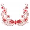 Motif Collar Hot-Fix Round 22x18cm Red